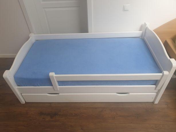 Sprzedam łóżko 80 x 160 białe drewniane z szufladą