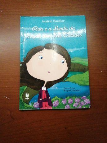 """Livro infantil """"Rita e a lenda das Sete cidades"""""""