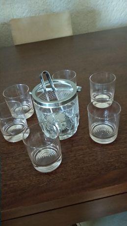 Balde gelo seis copos antigo