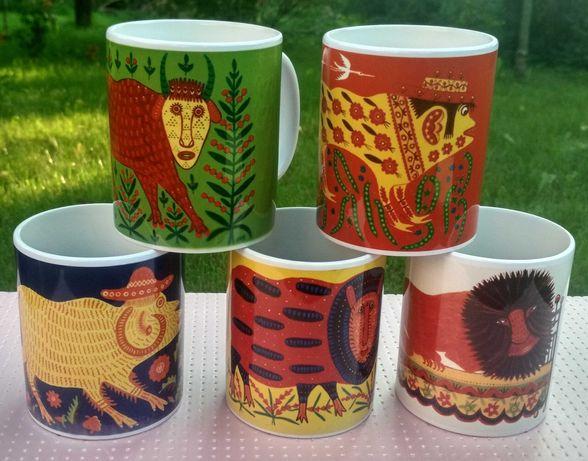 """Набір чашок """"Казковий звіринець"""" (Чашка, горнятко, Марія Примаченко)"""
