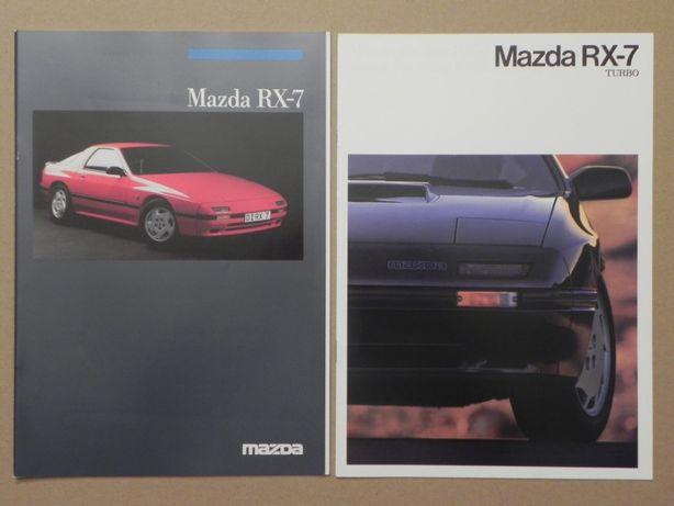 Prospekty - MAZDA RX-7 + RX-7 TURBO - 1986 + 1987 r