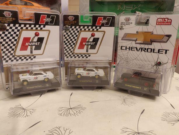 *RARO m* 1:64 Chevy Chevrolet C10 1973 e Nova Gasser M2 Machines