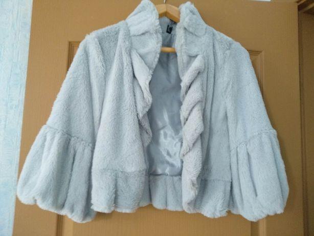 Жакет / куртка из серого меха