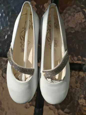 Nowe buty balerinki Primigi białe skórzane rozmiar 30