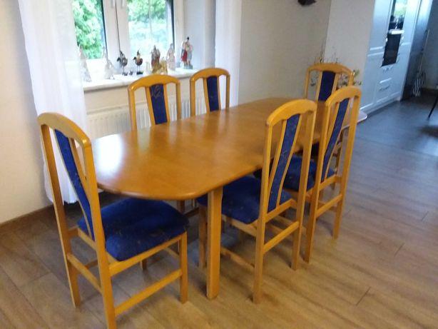 Sprzedam stół+6 krzeseł