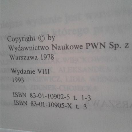 Słownik języka polskiego PWN. 3 tomy