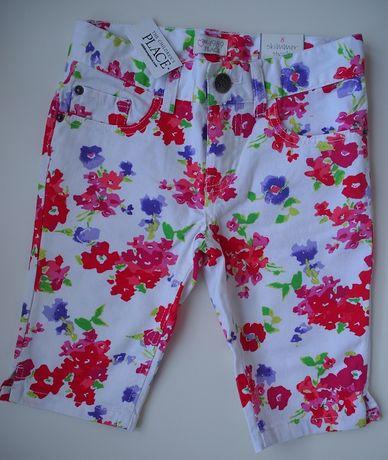 Kolorowe dziewczęce szorty / rybaczki / krótkie spodnie - Nowe - 122
