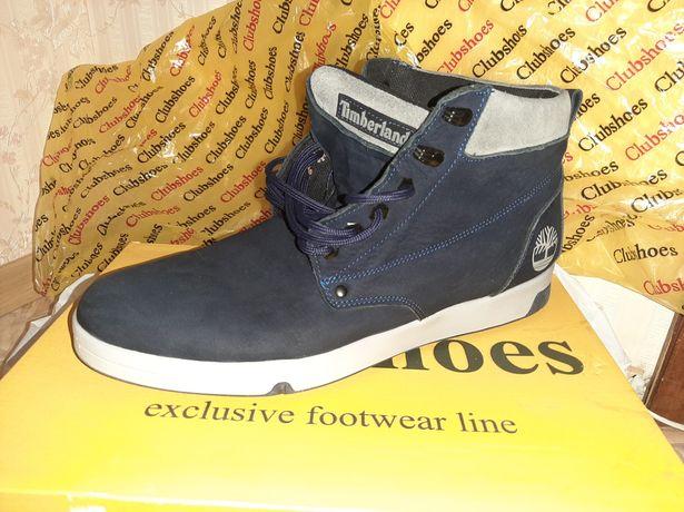 Зимние ботинки мужские замшевые