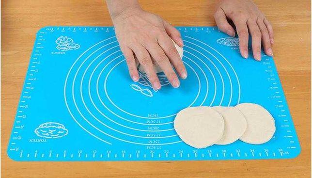 Силиконовый коврик для выпечки, раскатки теста, пиццы, печи 30 на 40