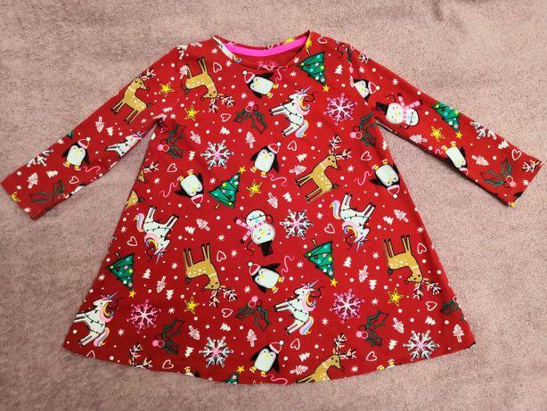 Новогоднее платье F&F  на девочку 2-3 г