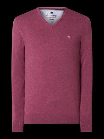 Sweter Christian Berg Men z bawełny Supima®Różowy metaliczny melanż