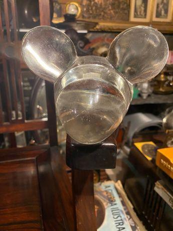 Mickey Mouse em vidro peça vintage anos 60 12cm