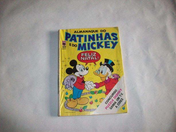 """Livro de banda desenhada – """" Almanaque do Patinhas e do Mickey – Feliz"""