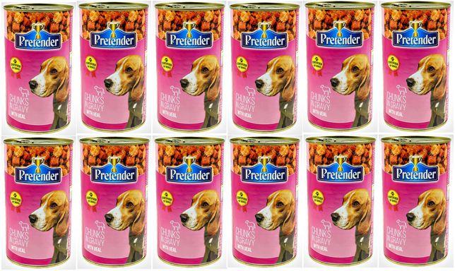 Karma 1250g PRETENDER 44%dla psa z cielęciną12szt