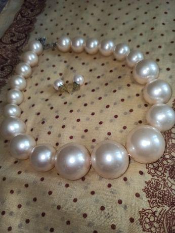 Буси, жемчуг, ожерелье, набір прикрас,украшение,бусы!