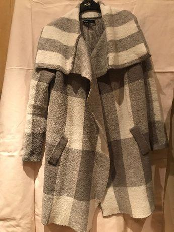 Ciepły długi sweter kardigan krata R.M/38