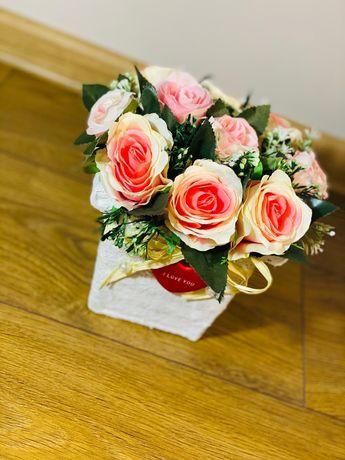 Flowerbox kwiaty Walentynki