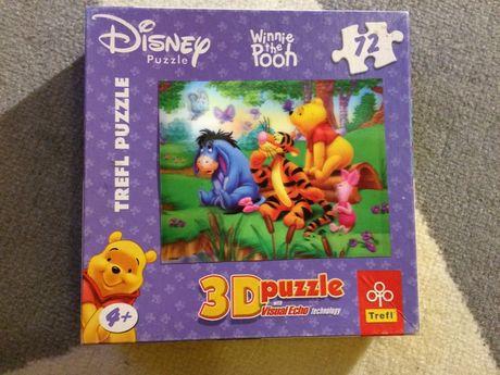 Puzzle 3D Disney Trefl Kubuś Puchatek, 72 el.
