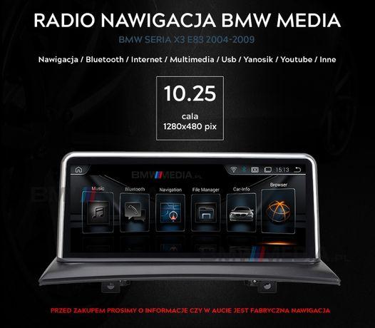 RADIO NAWIGACJA ANDROID 9.0 BMW X3 E83 rok od 2004 do 2009