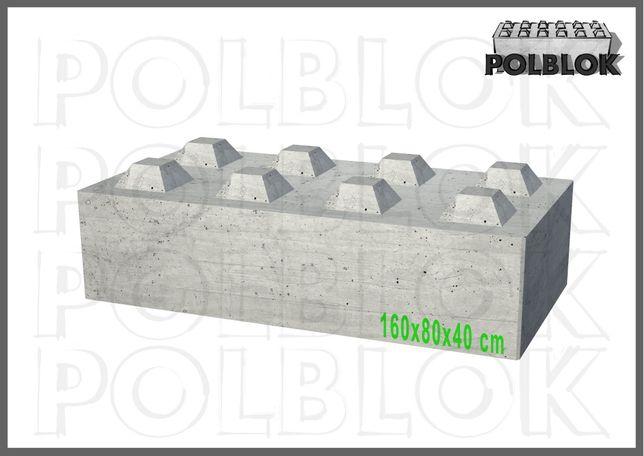 Bloki Betonowe, kostki Betonowe, ściany ognioodporne, 160x80x40 REI360