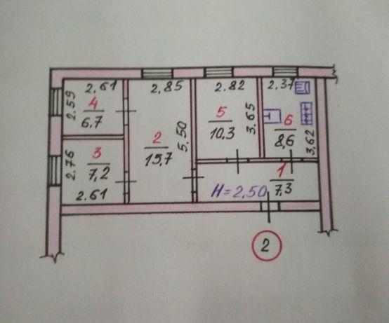 4 комнатная квартира, ул. Центральная