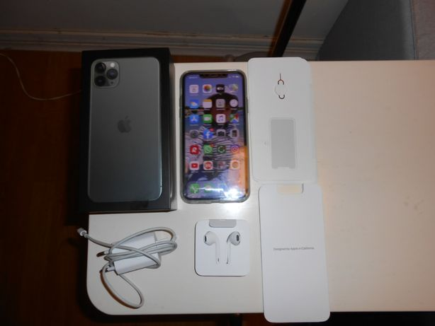 Iphone 11 PRO MAX 256GB Verde Meia Noite Como Novo Original EmCaixa