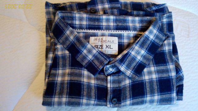 Jean Pascale nowa męska koszula w kratę