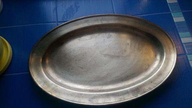 Блюдо-поднос мельхиоровое, 54х35 см, МНЦ, Кольчугинский завод