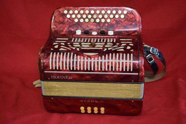 Concertina Hohner Norma III 3 Voz tonalidade #do#