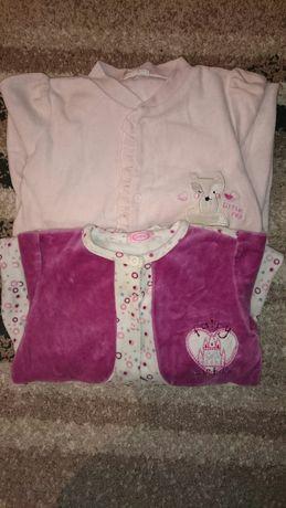 Pajacyki piżamki na dziewczynkę r. 80