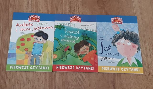 Pierwsze czytanki książki dla dzieci 3szt