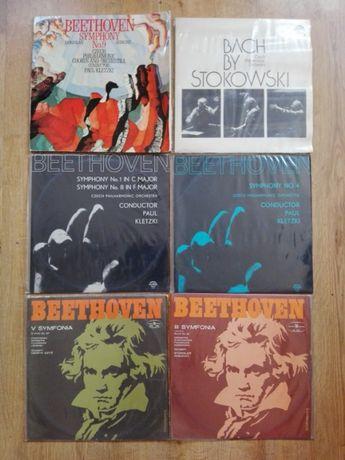 płyty winylowe analogowe zestaw BEETHOVEN / BACH siedem krążków EX