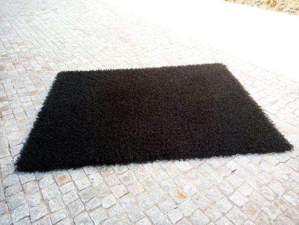 Tapete pelo grande preto 1,60 X2,30 m