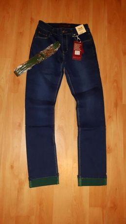 spodnie rurki (nowe) jeansowe damskie r. 34