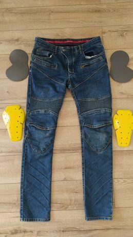 Spodnie motocyklowe jeansy męskie