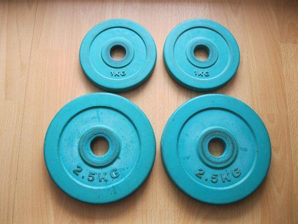 Obciążenie żeliwne gumowane nakład siłownia sztanga sztangielka