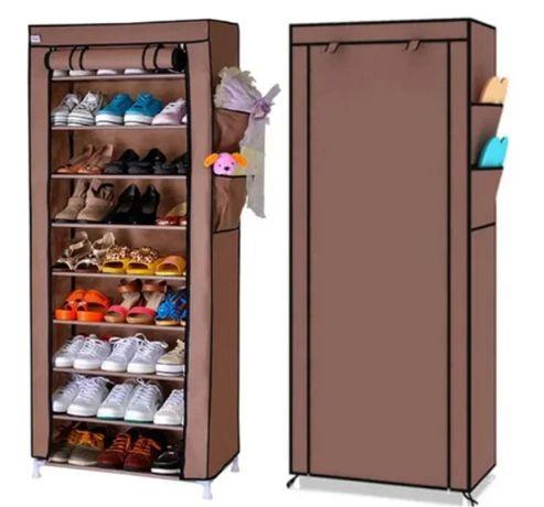 Стелаж для хранения обуви Shoe Cabinet 160X60Х30 Полка для обуви Ткане