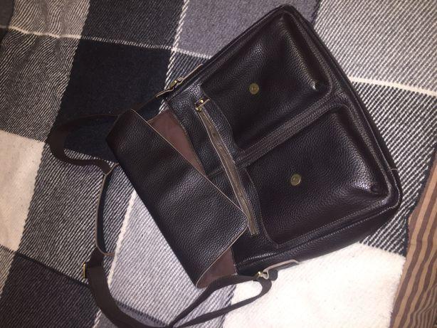 Продам мужскую кожаную сумку