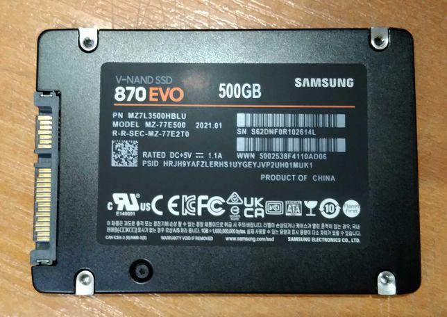 SSD Samsung 870 EVO 500 GB (MZ-77E500BW) в идеале.
