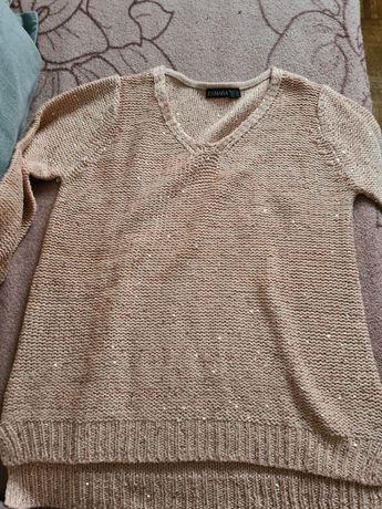 Sweter z cekinami Esmara S NOWY