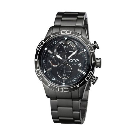 Relógio One Supreme Original Cronograph Aço Lux