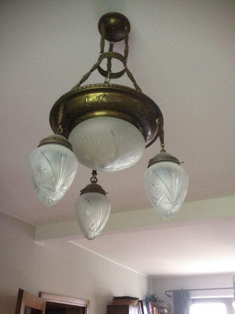 Lampa wisząca miedziana
