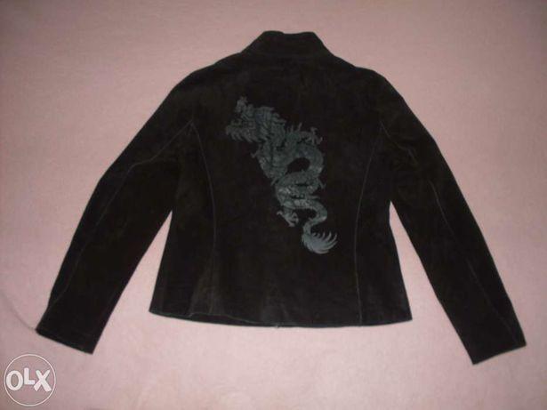 kurtka skórzana czarna rozmiar 38