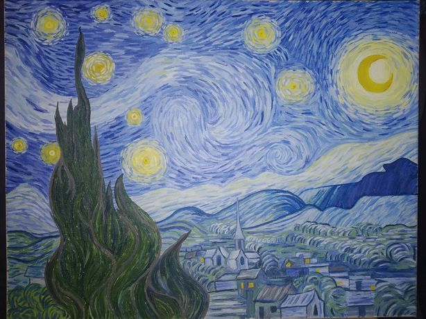 """Картина маслом """"Звёздная ночь"""". Ван Гог"""