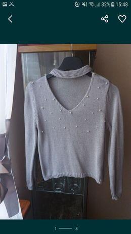 Sweterek z chokerem nowy S/M