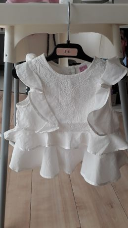 Bluzeczki dla dziewczynki - białe