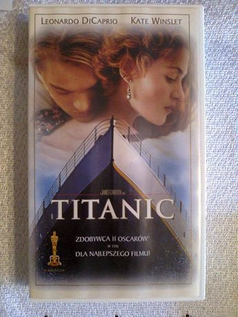 Oryginalna kaseta wideo VHS, film TITANIC, Leo DiCaprio, Kate Winslet