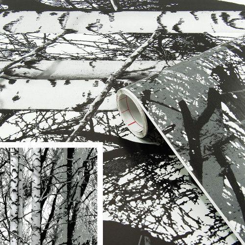 Okleina meblowa folia samoprzylepna tapeta drzewa 67x200 Łódź - image 1