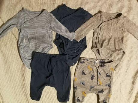 Body niemowlęce H&m i spodnie rozmiar 50