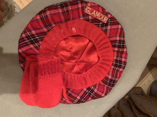 Берет шапка варежки Chicco